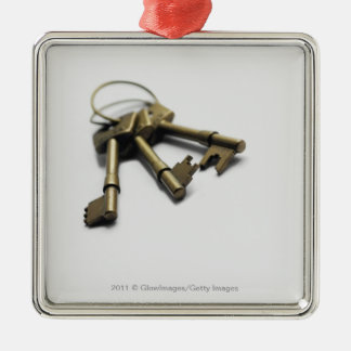 Close-up of a bunch of keys christmas ornament