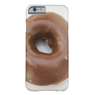 Close-up of a chocolate doughnut on a plate barely there iPhone 6 case
