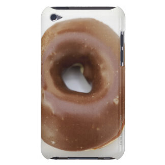 Close-up of a chocolate doughnut on a plate barely there iPod case