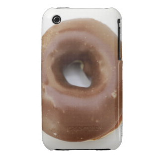 Close-up of a chocolate doughnut on a plate Case-Mate iPhone 3 cases
