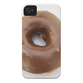 Close-up of a chocolate doughnut on a plate iPhone 4 Case-Mate cases