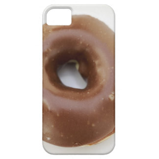 Close-up of a chocolate doughnut on a plate iPhone 5 cover
