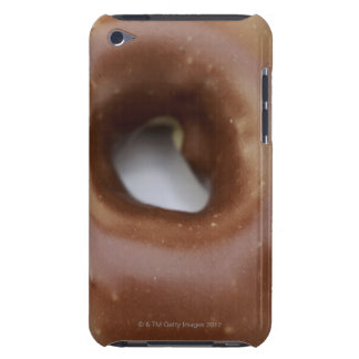 Close-up of a chocolate doughnut on a plate iPod touch cover