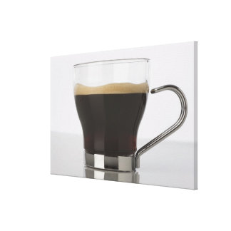Close-up of a coffee cup canvas print