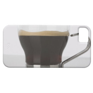 Close-up of a coffee cup case for the iPhone 5