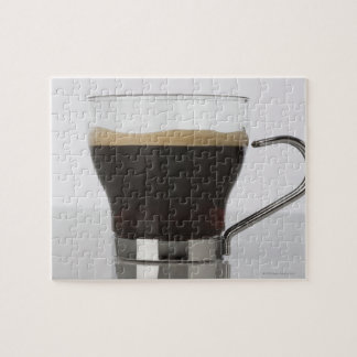 Close-up of a coffee cup jigsaw puzzle