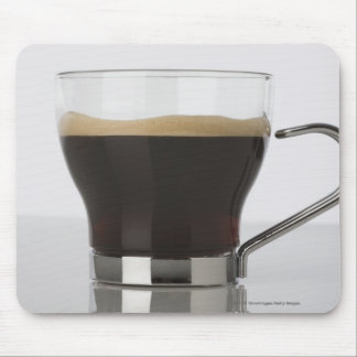 Close-up of a coffee cup mouse pad