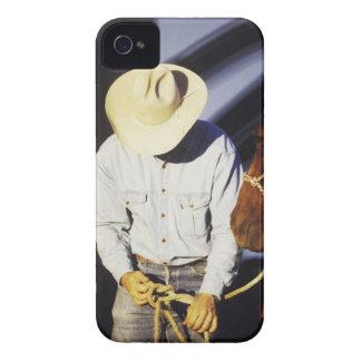 Close-up of a cowboy tying a rein Case-Mate iPhone 4 case