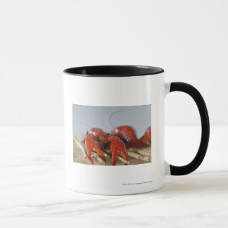 Close-up of a crab on sticks mug