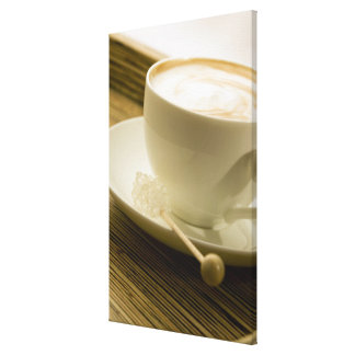 Close-up of a cup of coffee with a candy canvas print