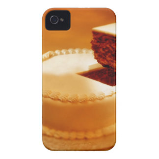 close-up of a cut piece of cake being taken out iPhone 4 cover