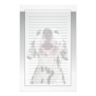 Close up of a Dalmatian dog Custom Stationery