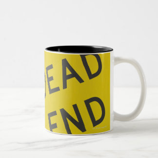 Close-up of a dead end sign, Texas, USA Two-Tone Coffee Mug