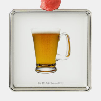 Close up of a glass of beer 2 christmas ornament