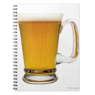 Close up of a glass of beer 2 notebook