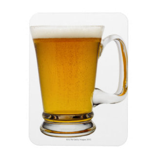 Close up of a glass of beer 2 rectangular photo magnet