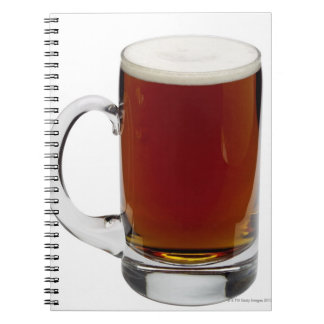 Close up of a glass of beer 3 spiral notebook