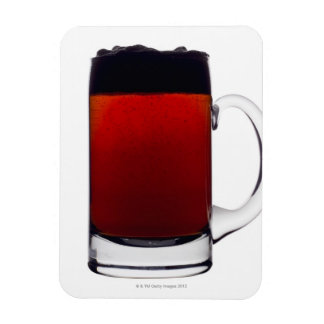 Close up of a glass of beer rectangular photo magnet