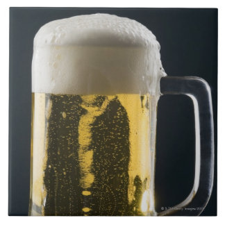 Close-up of a glass of beer tile