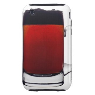 Close up of a glass of beer tough iPhone 3 cover