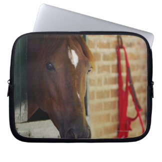 Close-up of a horse 3 laptop sleeve