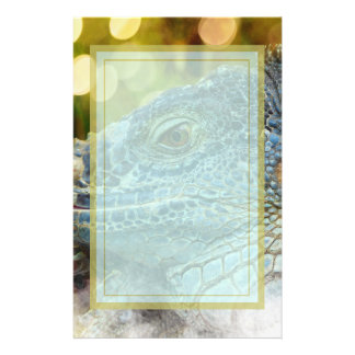 Close Up of a Large Scaly Green Iguana Lizard Personalised Stationery