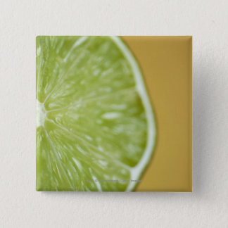 Close-up of a lemon slice 15 cm square badge