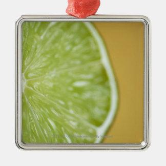 Close-up of a lemon slice christmas ornament