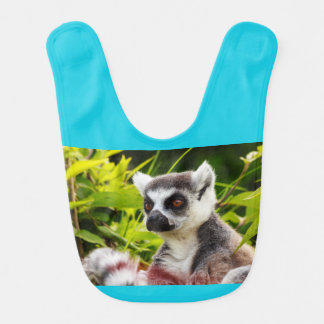 close-up of a lemur of madagascar  on Baby Bib