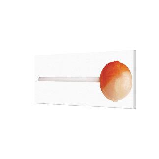 close-up of a lollipop canvas print