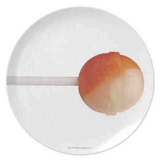 close-up of a lollipop plate