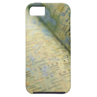 Close-up of a map case for the iPhone 5