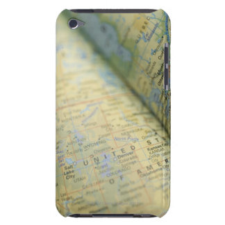 Close-up of a map iPod touch case