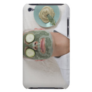 Close-up of a mature man lying down with a face iPod touch cases