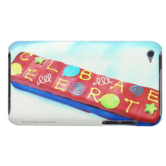 close-up of a pencil box shaped birthday cake barely there iPod case