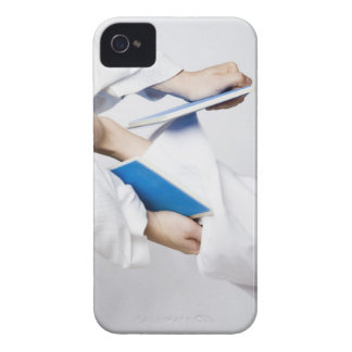 Close-up of a person's leg breaking a tile iPhone 4 cover