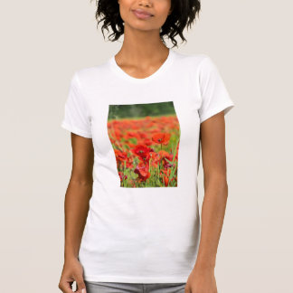 Close-up of a Poppy field, France T-Shirt