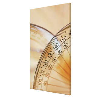 Close-up of a protractor canvas print
