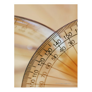 Close-up of a protractor postcard