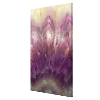 Close up of a purple Amethyst Canvas Print