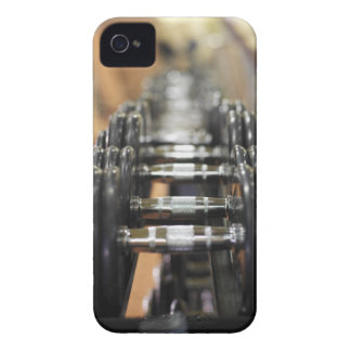 Close-up of a row of dumbbells Case-Mate iPhone 4 cases