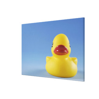 Close-up of a rubber duck canvas print
