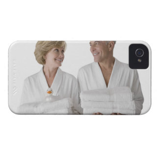 Close-up of a senior man with a mature woman Case-Mate iPhone 4 cases