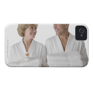Close-up of a senior man with a mature woman iPhone 4 cover