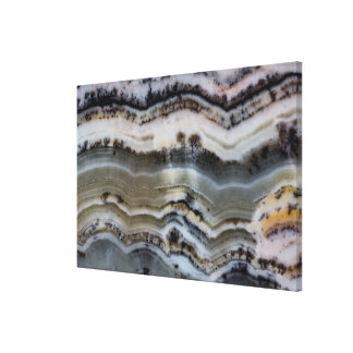 Close up of a Silver Lace Onyx Stretched Canvas Prints