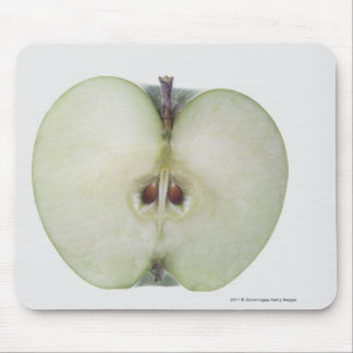 Close-up of a sliced granny smith apple mouse pad