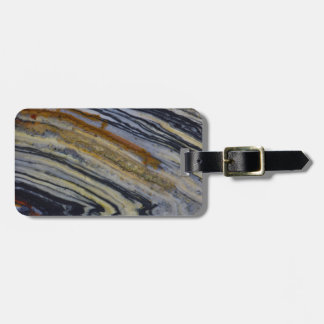 Close up of a Striated Jasper Slab Luggage Tag