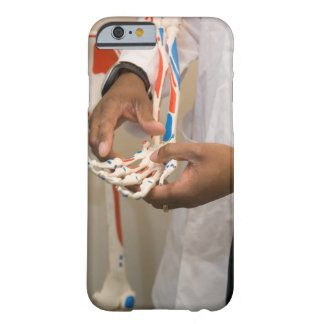 Close-up of a student doctor studying anatomy on barely there iPhone 6 case