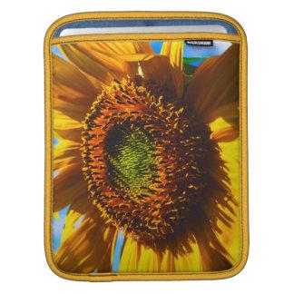 Close-up of a sunflower iPad sleeve