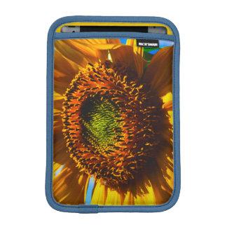 Close-up of a sunflower sleeve for iPad mini